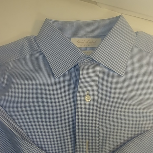 Roundtree & Yorke Other - Roundtree & Yorke Gold Label Fitted 16 / 34 Blue